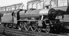45564 New South Wales at Carlisle, 22 May 1964 Train Car, Train Tracks, Live Steam Locomotive, Steam Trains Uk, Carlisle Cumbria, Steam Railway, British Rail, Train Engines, Steam Engine