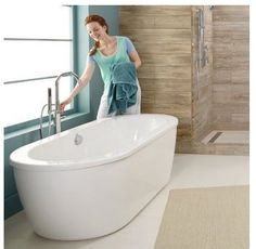 Shop for the American Standard Arctic Cadet Acrylic Soaking Bathtub Free  Standing Installations with Center Drain Tub Filler Included and save Evora Freestanding MOST COMFORTABLE BATHTUB EVER