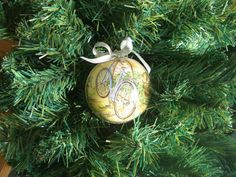 Decoupage Christmas ball-Christmas bauble by FestivitiesFactory