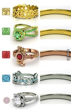 In response to the nerd rings, I give you the Last Airbender rings!OMG I love the White Lotus!!!