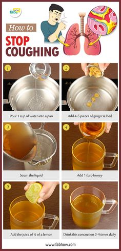 Remedies How to Stop Coughing Fast without Medicine. - One of the most common health problems all over the world is coughing. Scientifically termed tussis, a cough is a throat-clearing reflex that helps clear irritating substances and blockages from. Natural Health Remedies, Natural Cures, Natural Healing, Herbal Remedies, Natural Treatments, Natural Foods, Natural Oil, Asthma Remedies, Holistic Remedies