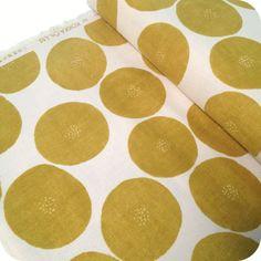 Tissu Kokka - Slices mustard