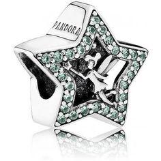 Charm Pandora Disney 791920NPG - Charm Disney Etoile De La Fée Clochette Femme