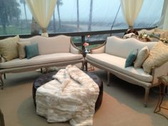The new Harrison Leather Tufted Ottoman is a great complement to our furniture pieces, old and new! Beachview Event Rentals & Design | www.beachview.net