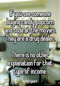 Drug dealers at the movies