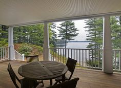 Real Estate | Portland Press Herald | Featured Home | May 29, 2015 | 443 Sabbathday Road, New Gloucester. Farmers porch opens to a water view of the Sabbathday Lake, Maine.