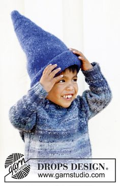"""Felted DROPS hat in """"Alaska"""". Size 3 to 12 years. ~ DROPS Design"""