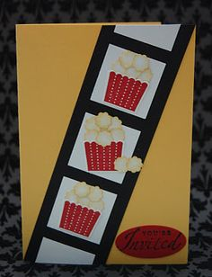 Popcorn made with itty bitty punch and cupcake stamp set and matching punch from Stampin' Up