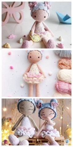Educational and interesting ideas about amigurumi, crochet tutorials are here. Doll Amigurumi Free Pattern, Crochet Amigurumi Free Patterns, Crochet Bear, Crochet Doll Pattern, Cute Crochet, Amigurumi Doll, Motif Mandala Crochet, Ballerina Doll, Crochet Projects