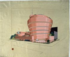 Frank Lloyd Wright - Early Study For Guggenheim Museum,  NYC