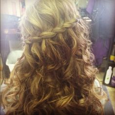 My hair for prom tonight!!
