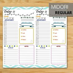 ◆NOTE: This is a DIGITAL file. No physical item will be shipped. ◆BLACK & WHITE VERSION You can purchase another black & white version at https://www.etsy.com/listing/465516492/printable-daily-plannerbullet-journal ◆DOWNLOAD INCLUDES 1) Two PDF file for 2 templates ◆SIZE Midori