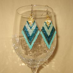 Brick Stitch Earrings!