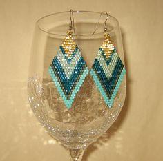 Brick Stitch Earrings!