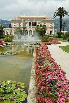 Villa Ephrussi, historical Rothschild villa, St. Jean Cap Ferrat, Alpes-Maritimes, Provence, France, Europe