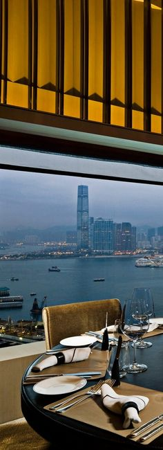 Dinner with a view in Hong Kong
