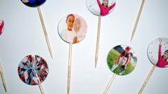 20 Custom Photo Cupcake and Food Toppers by Flags4FoodStarringU