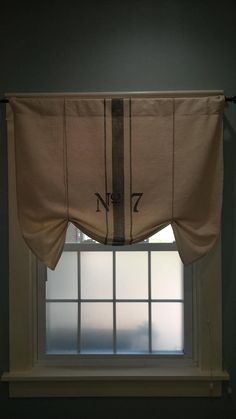 Grain Sack Farmhouse Valance
