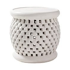 Bamileke Side Table - White | Serena & Lily