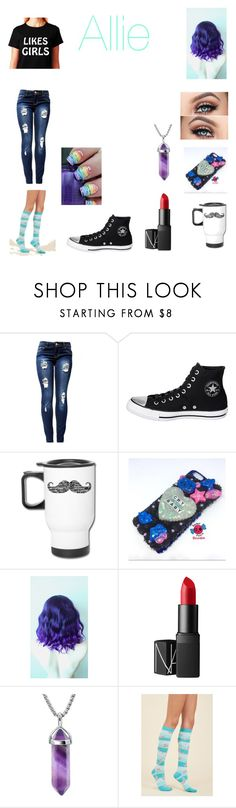 """Done at the dentist"" by gamesandbands ❤ liked on Polyvore featuring Converse, Penumbra and NARS Cosmetics"
