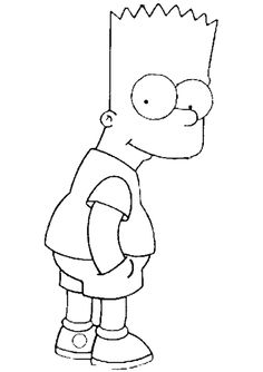 Bart Simpson Coloring Pages Gallery - Coloring For Kids 2019 Simpsons Drawings, Disney Drawings, Cartoon Drawings, Easy Drawings, Family Coloring Pages, Cartoon Coloring Pages, Coloring Book Pages, Kids Coloring, Simple Cartoon
