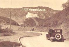 vintage twenties photoes | Los Angeles, Hollywoodland Sign, 1920s | vintage everyday