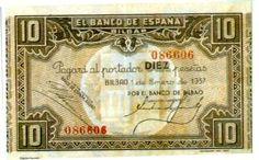 Spain - 1936-39. - GC - Billetes y monedas Bilbao