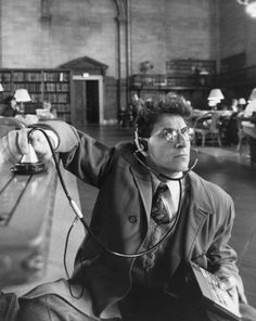 "Harold Ramis in ""Ghostbusters"" (1984). RIP Egon 24 February 2014"