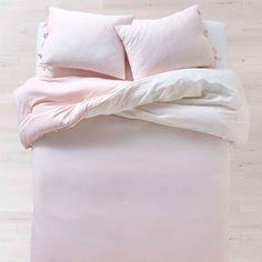 Sasha Stripe Comforter and Sham Set - Full/Queen College Bedding Sets, Teen Bedding Sets, Pink Bedding Set, Pink Comforter, Cheap Bedding Sets, Luxury Bedding Sets, Linen Bedding, Bed Linens, Unique Bedding