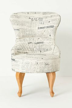 love everything about this chair; design, shape, upholstery...