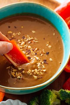 You can serve this healthy peanut sauce recipe as a dip or drizzle over Asian dishes! You can toss this savory peanut sauce with noodles, too. Recipe yields about 1 cup sauce. Peanut Sauce Recipe, Sauce Recipes, Vegan Peanut Sauce, Thai Peanut Sauce, Peanut Butter Sauce, Peanut Dipping Sauces, Mets, Snacks, Asian Recipes