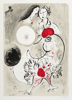 Marc Chagall, Le Coq Gris (The Grey Rooster), 1950