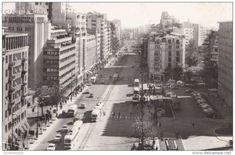 Bulevardul Magheru la sfârşitul anilor 60. | Bucurestii Vechi si Noi Paris, Bucharest Romania, Verona, New York Skyline, Times Square, Urban, Travel, Bucharest, Montmartre Paris