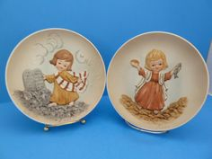 Bible Friends, Feeding the Multitude, Moses Ten Commandments, By: Lucas,Collectors Plates by BjsDoDads on Etsy