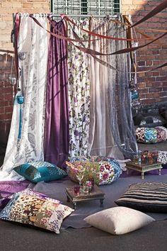 Boho interior for outdoors