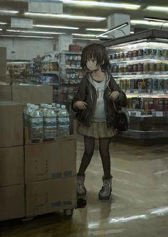 Art Anime, Chica Anime Manga, Anime Artwork, Anime Art Girl, Manga Art, Kawaii Anime, Hikikomori Anime, Pretty Art, Cute Art
