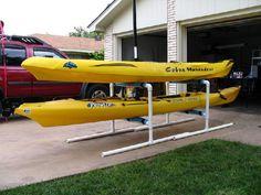 PVC Kayak Storage Rack More
