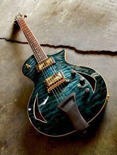 Blue Custom Guitar