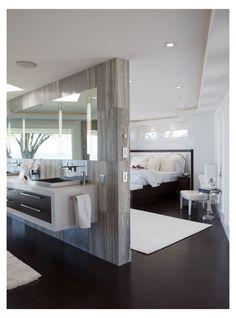 Basement Master Bedroom, Master Bedroom Plans, Master Bedroom Layout, Modern Master Bedroom, Modern Bedroom Design, Modern Design, Open Plan Bathrooms, Master Bathrooms, Small Bathroom