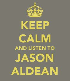 this is what I do when I feel stressed,  I let Jason sing to me ;)