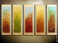 Modern Abstract Multicolored Painting.Large por NataSgallery