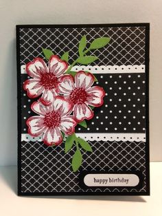 Today I found a fun card by Terry at Classy Cut-up's Creations . I thought it was such a pretty card that I just had to make one. I did...