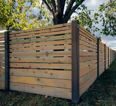 horizontal fence - contemporary - Home Fencing And Gates - Other Metro - The Fence Builders llp