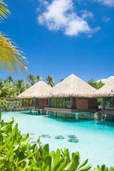 InterContinental Bora Bora Resort & Thalasso Spa — Très Haute Diva by wteresa Vacation Places, Vacation Destinations, Dream Vacations, Vacation Spots, Romantic Vacations, Vacation Resorts, Italy Vacation, Beautiful Places To Travel, Beautiful Beaches