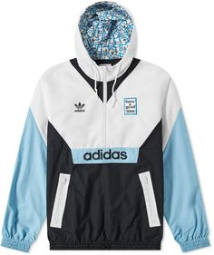 Buy the Adidas x Have A Good Time Windbreaker in White from leading mens fashion retailer END. - only Fast shipping on all latest Adidas products Adidas Originals, Streetwear, Types Of Jackets, Adidas Outfit, Adidas Jacket, Windbreaker, Cute Outfits, Leather Jacket, Mens Fashion