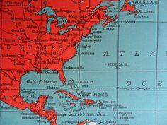 vintage world atlas book . vintage maps . book of by GTDesigns, $68.00