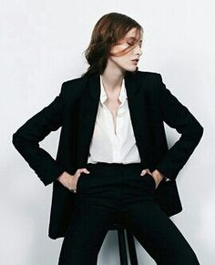 b1b0ae99629f French Style Essentials   Black Blazer + Black Pants + White or Cream Shirt