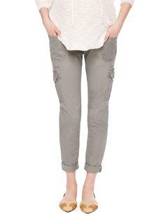 1cf90b050d237 Motherhood Maternity Secret Fit Belly Cotton Woven Cargo Pockets Skinny Leg  Maternity Pants Maternity Pants,