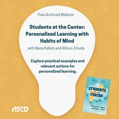 In this webinar, explore practical examples and actions that are relevant to you—wherever you are on your personalized learning journey. Habits Of Mind, Learning Environments, Professional Development, Student Learning, Journey, Mindfulness, Explore, Education, Modern