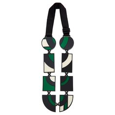 Evoking the Art Deco movement, this bold necklace was produced in a small atelier in Buenos Aires.